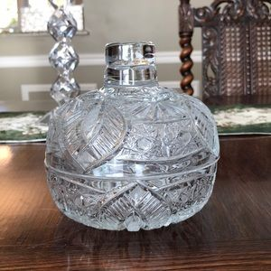 Crystal candy 🍬 vase with lid.